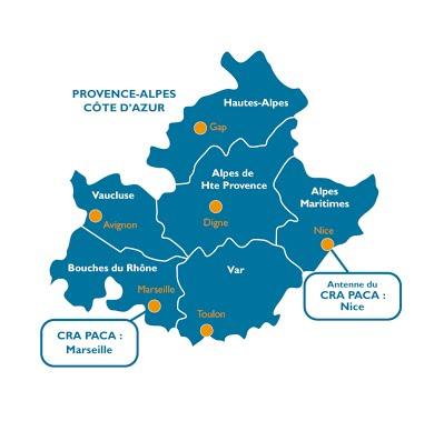 Carte Region Paca.Carte Region Paca Com Aphm Guide Ash De L Enseignement